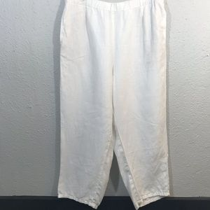J.Jill Off -White Love Linen Pants With Pockets